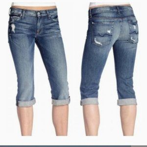 7 For All Mankind Jeans - 7 for all Mankind Distressed Josefina Crop Skinny
